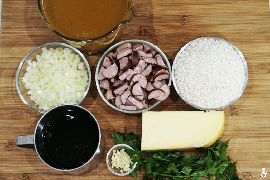 składniki na risotto