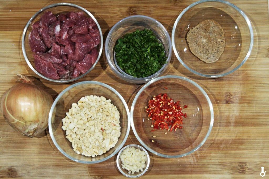 składniki na wołowinę do lawaszu