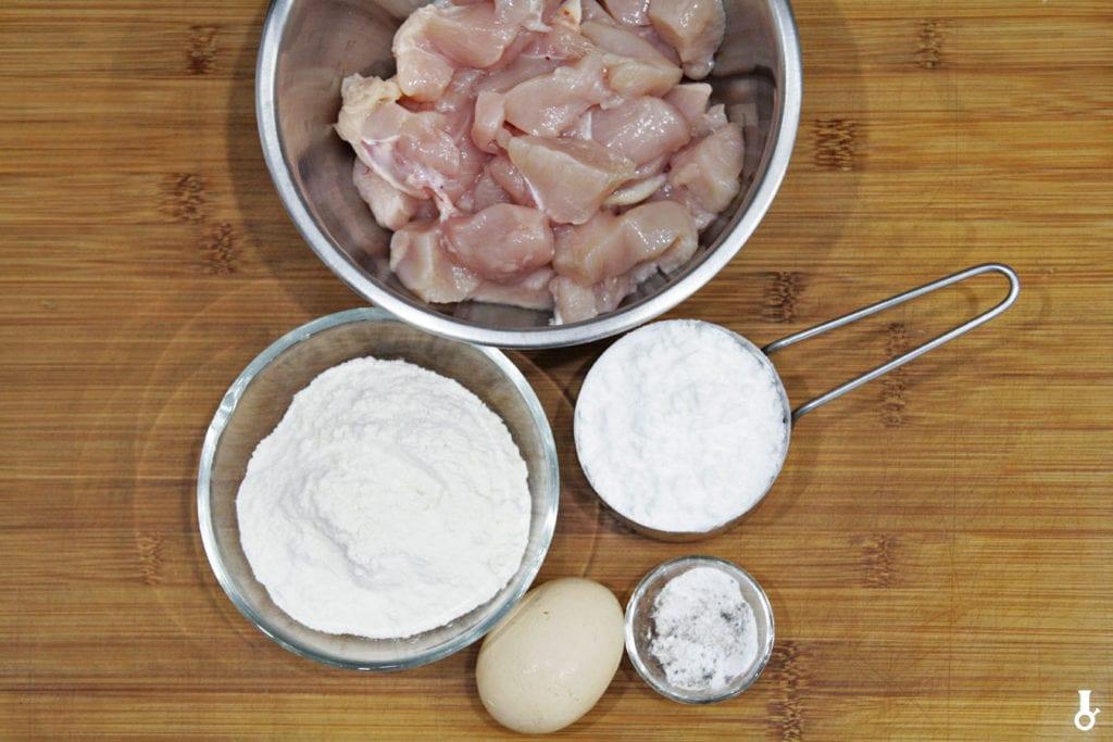 składniki na korean fried chicken