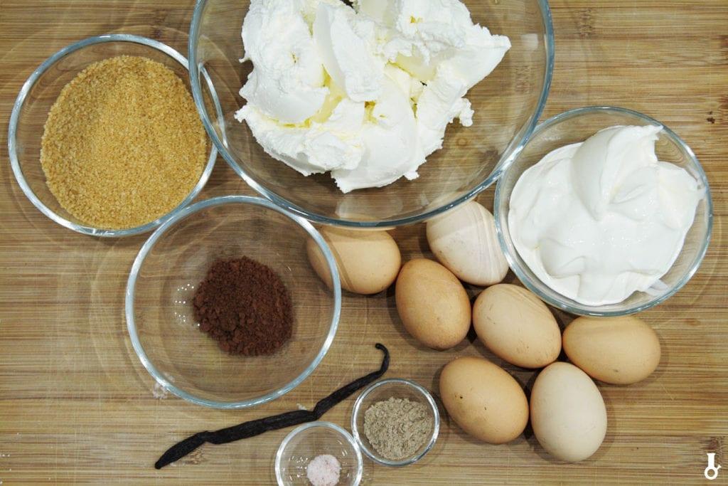 składniki na masę sernikową