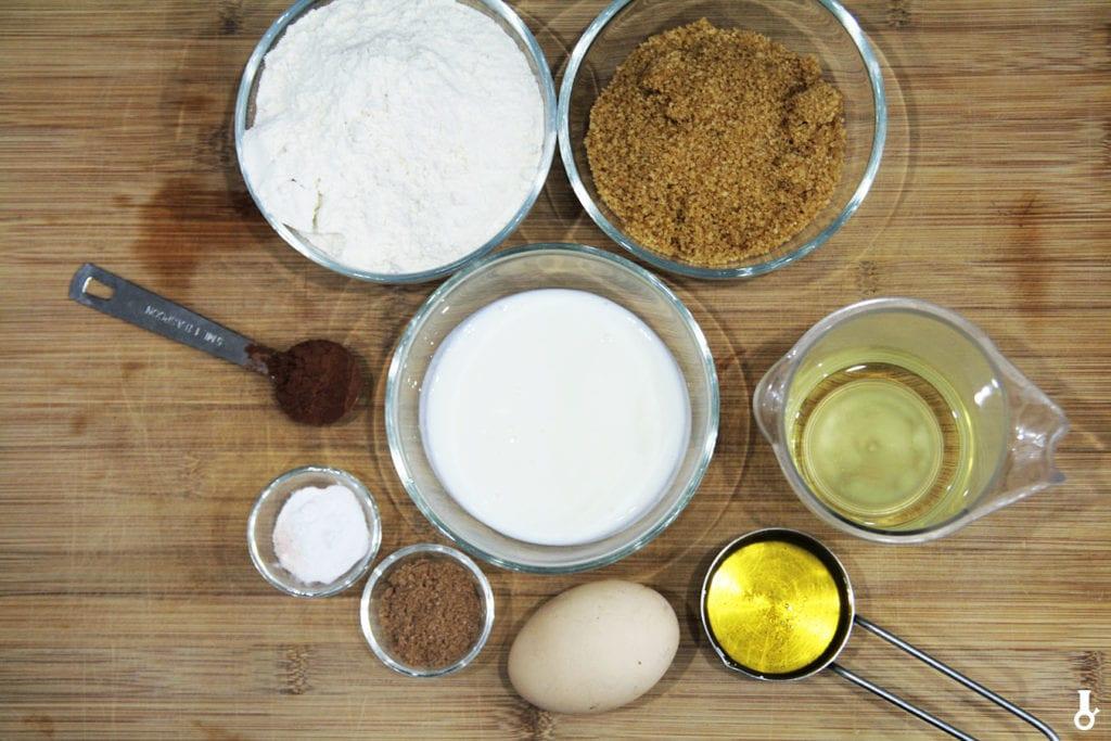 składniki na piernikowe donuty