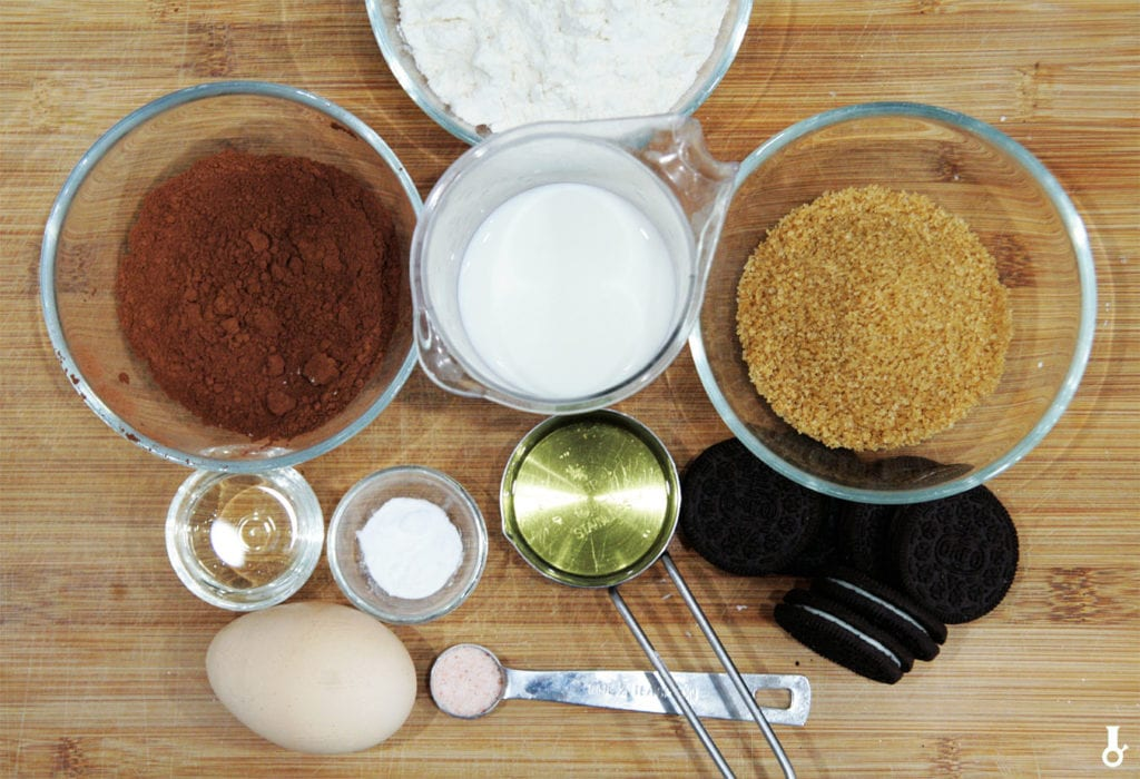 składniki na donuty oreo