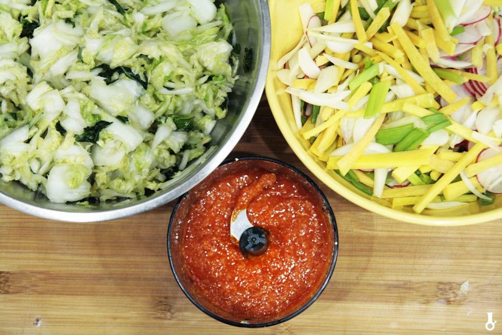 składniki na kimchi