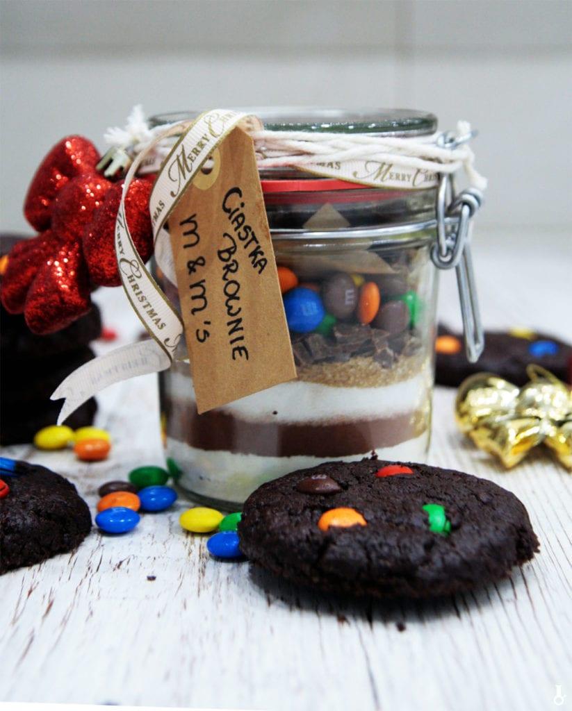 ciastka brownie z M&Ms