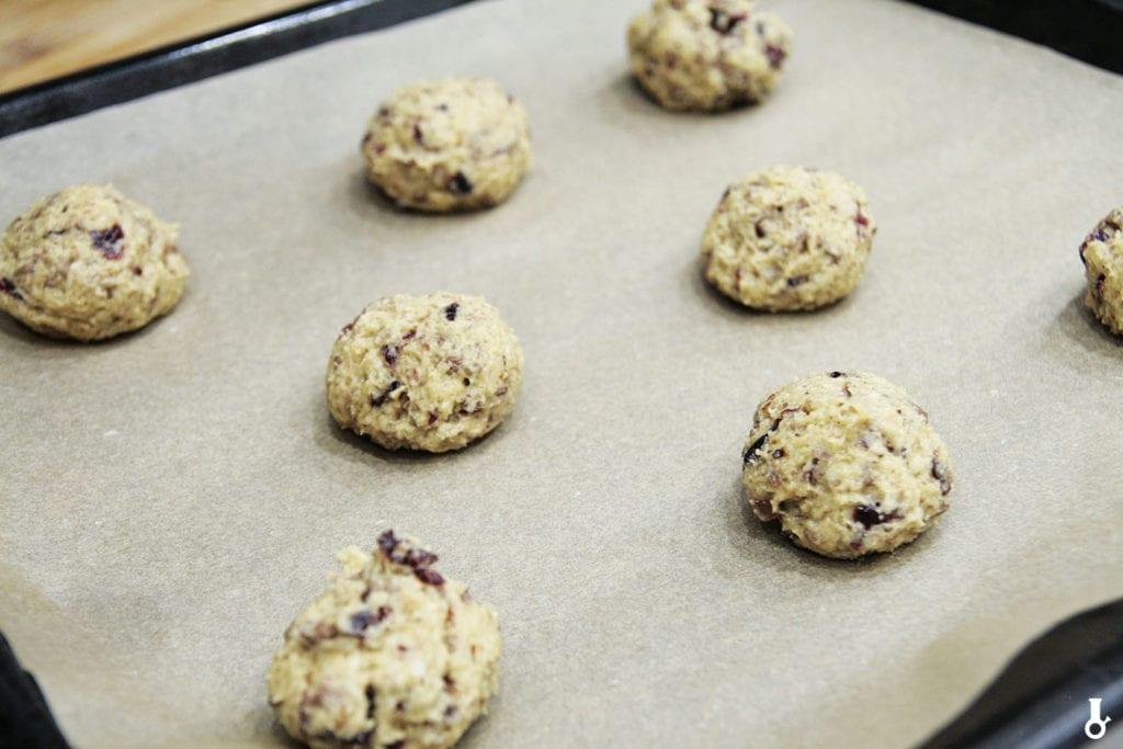 ciasteczka hagrida przed pieczeniem