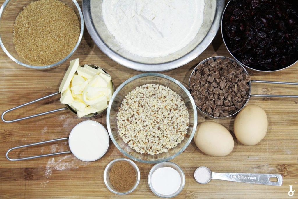 składniki na ciasteczka hagrida