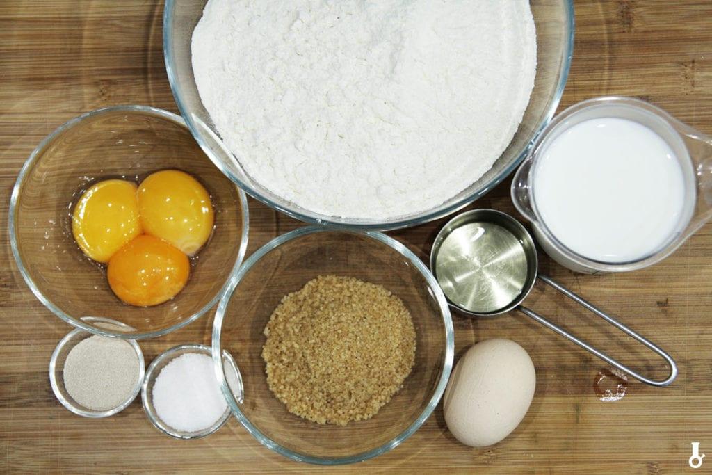 składniki na mini pączki