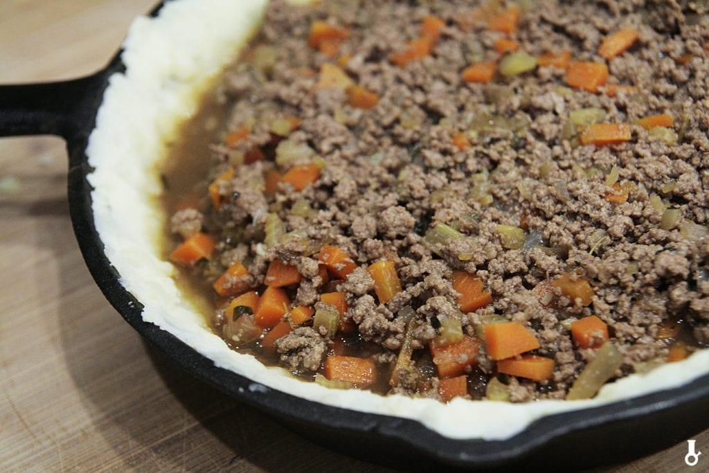 farsz na spodzie shepherd's pie