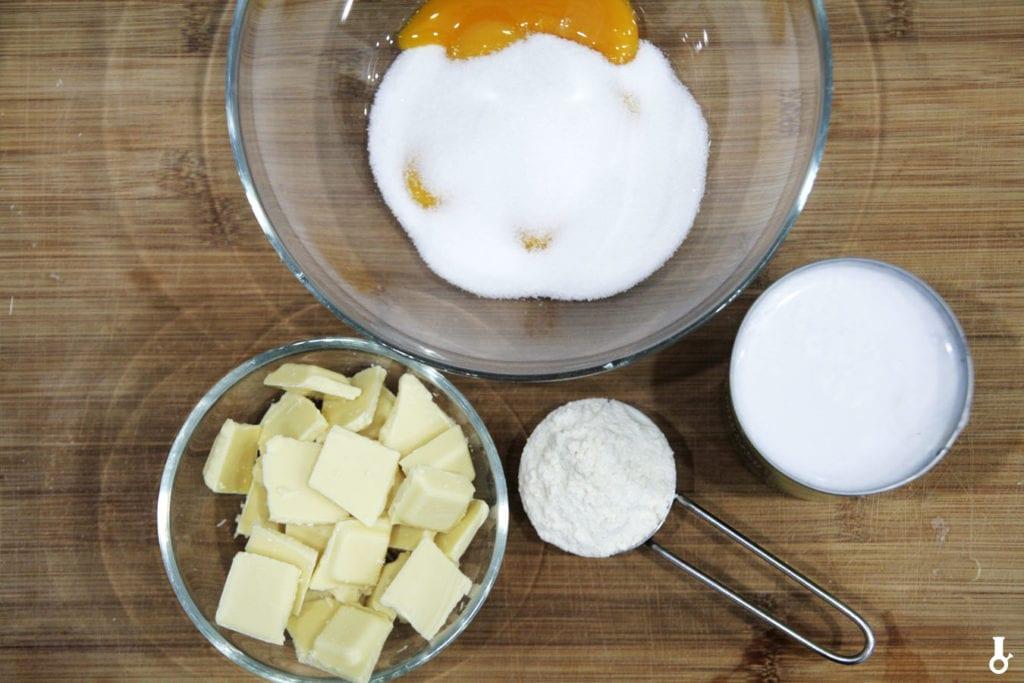 składniki na budyń do pączków