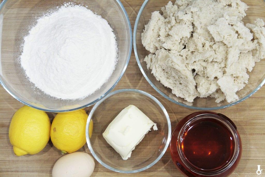 składniki na treacle tart