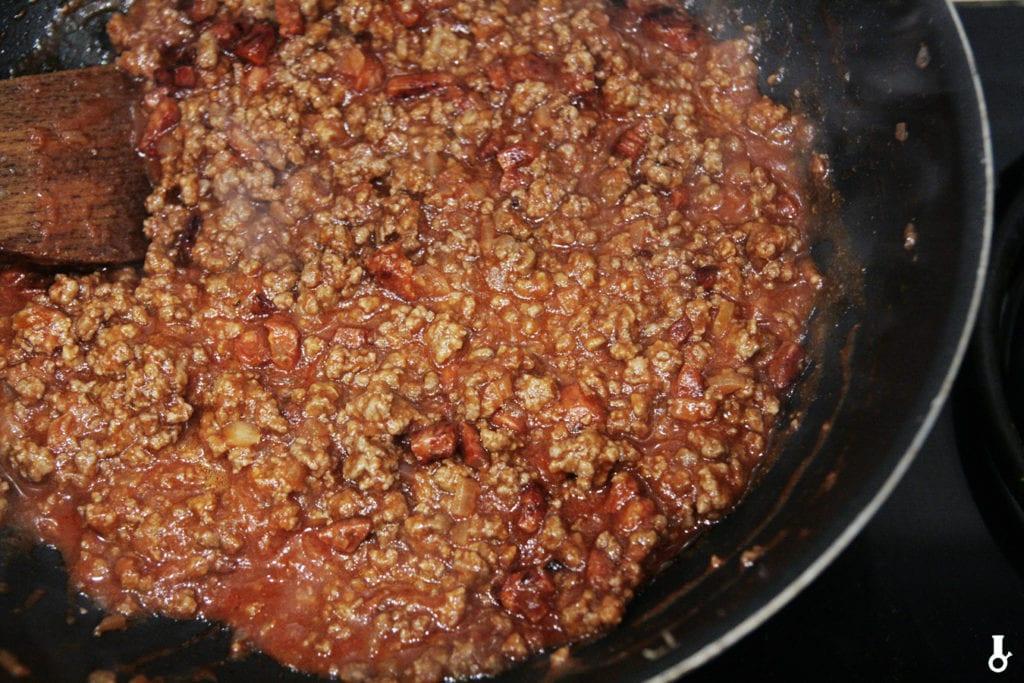zredukowany sos na tosty sloppy joe