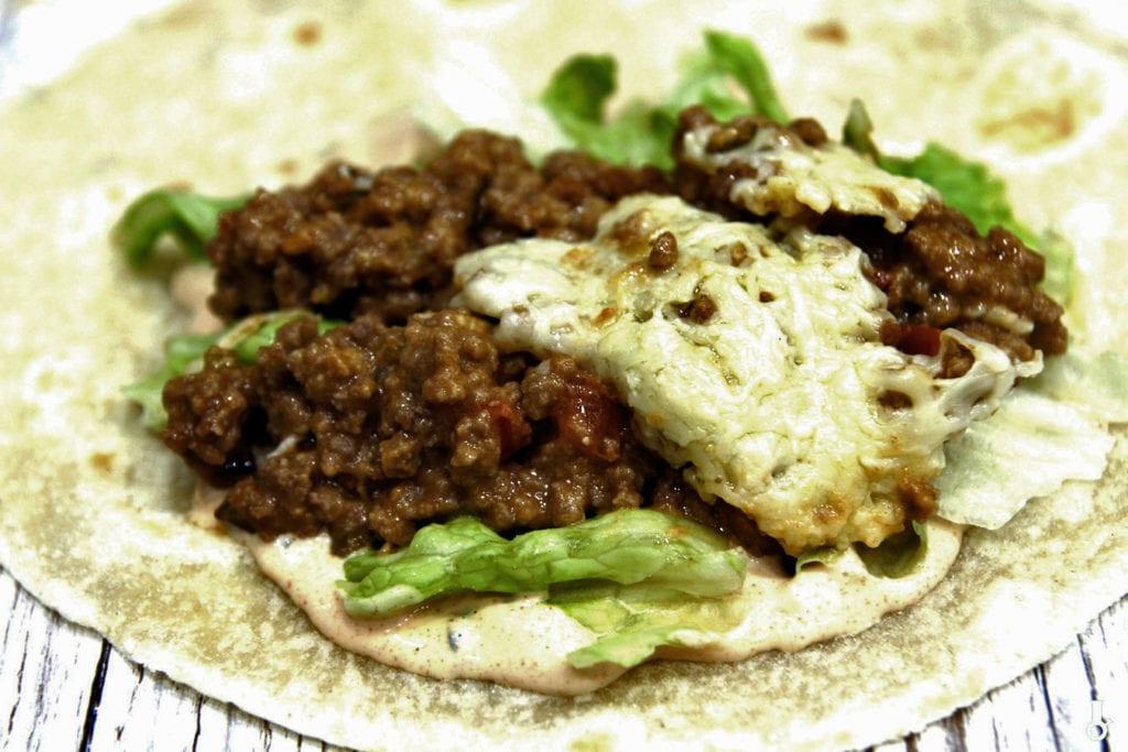 burrito przed składaniem