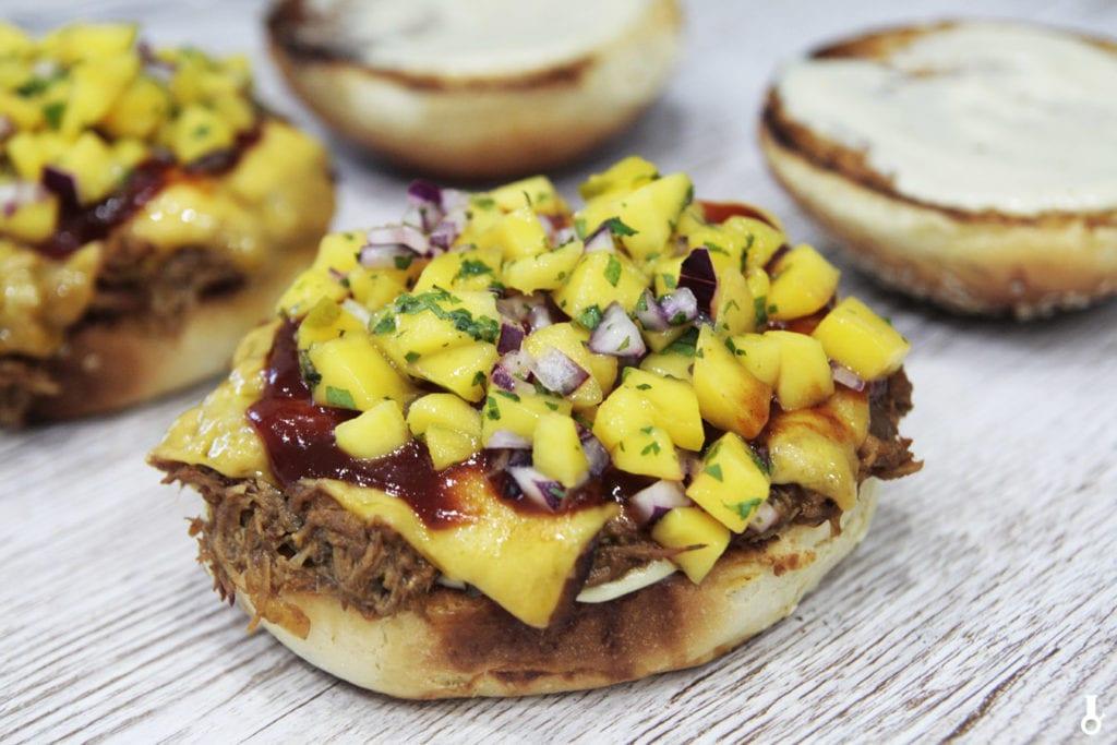 kanapki z kurczakiem mango haze przed złożeniem