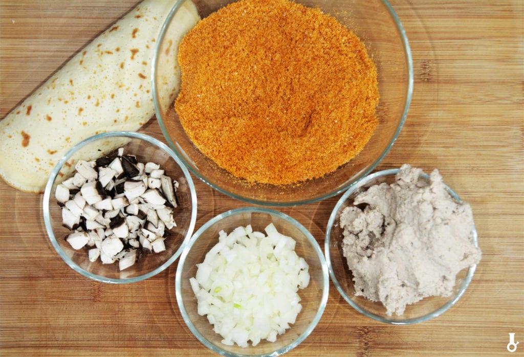 składniki na krokiety w płonących cheetosach