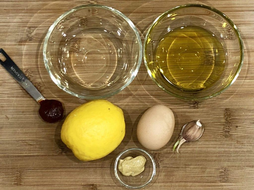 składniki na aioli