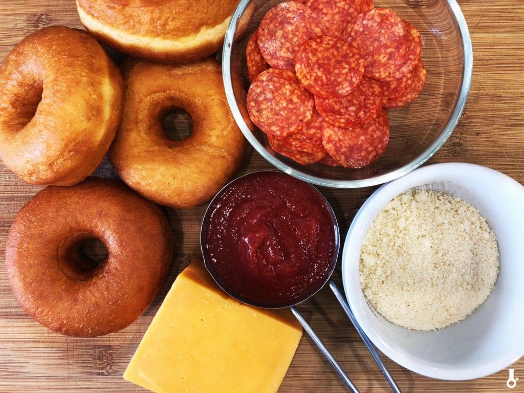 składniki na pizza donuty