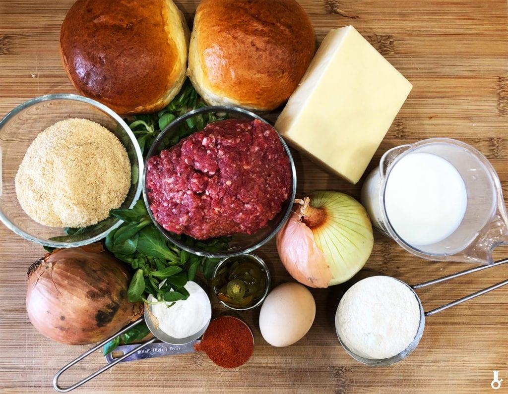 składniki na wulkano burgery