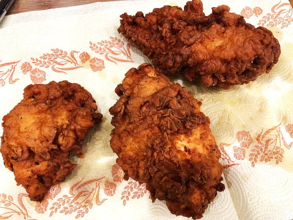 usmażony kurczak