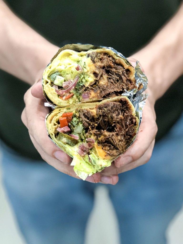 burrito z policzkami wołowymi