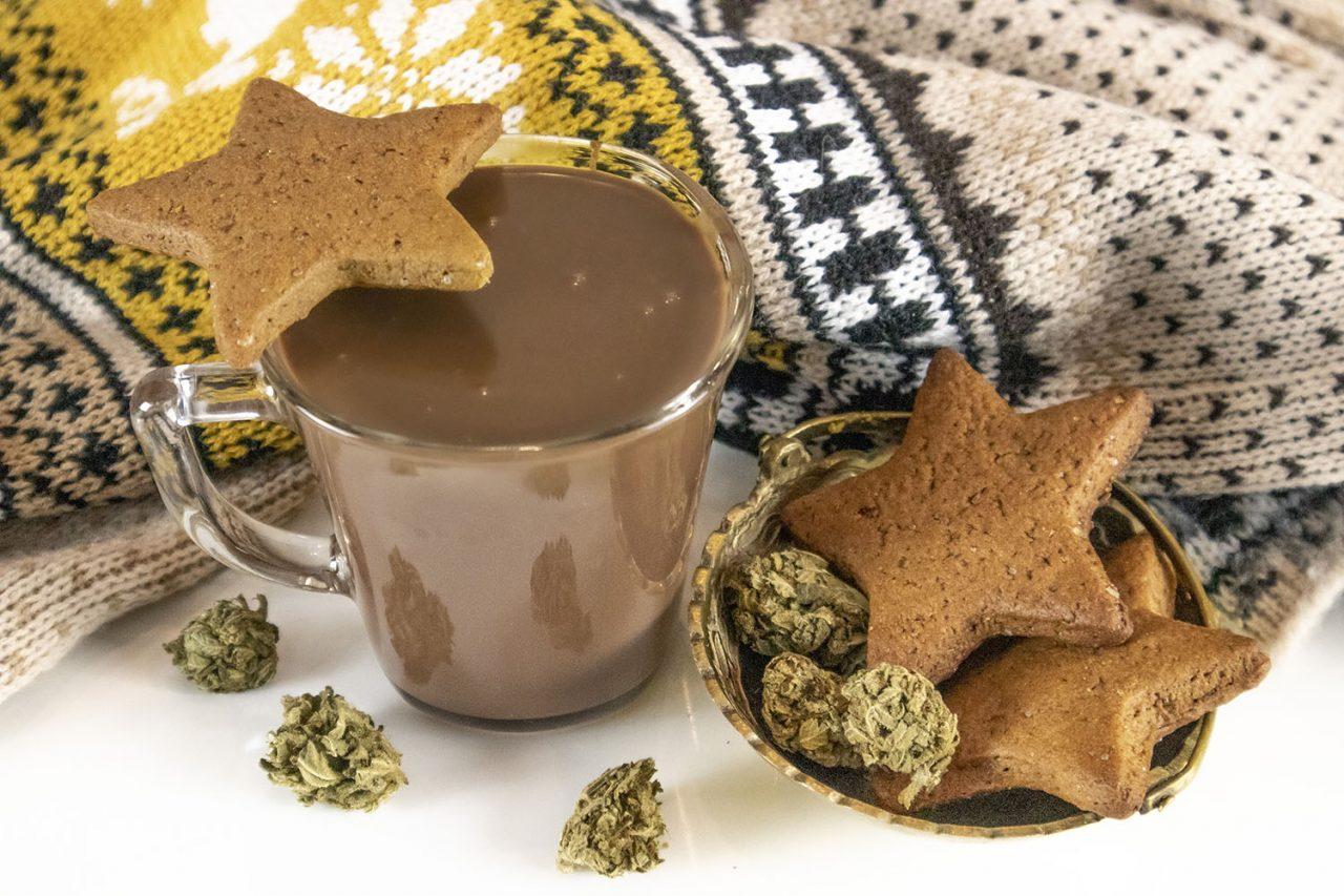 świąteczna gorąca czekolada z medyczną marihuaną